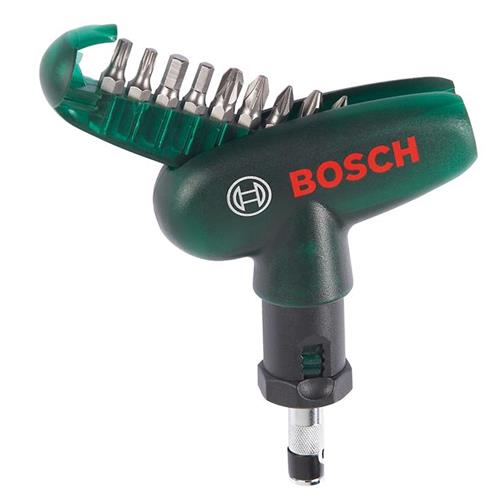 Bosch 2607019510 10 Piece Screwdriver Handle With Bits