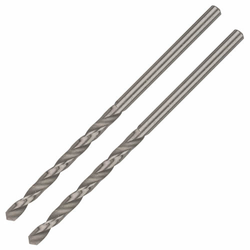 Bosch 2608585911 Pack of 2 Bosch HSS-G Metal Drill Bit - 3mm x 61mm