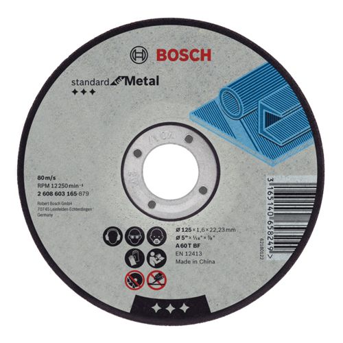 Bosch 2608603164 115mm x 2.5mm Standard for Metal Cutting Disc Straight