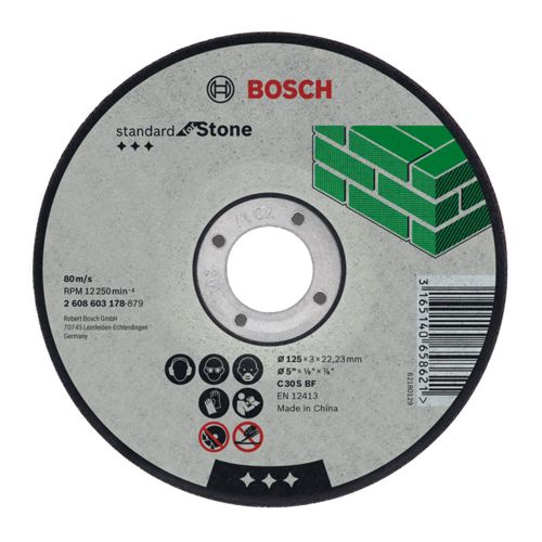 Bosch 2608603173 115mm x 2.5mm Standard for Stone Cutting Disc Bent