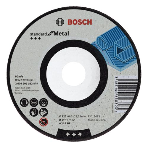 Bosch 2608603181 115mm x 6mm Standard for Metal Grinding Disc Bent
