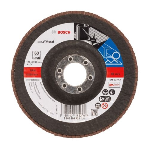 Bosch 2608606923 Flap Disc Best for Metal Ø125mm G60