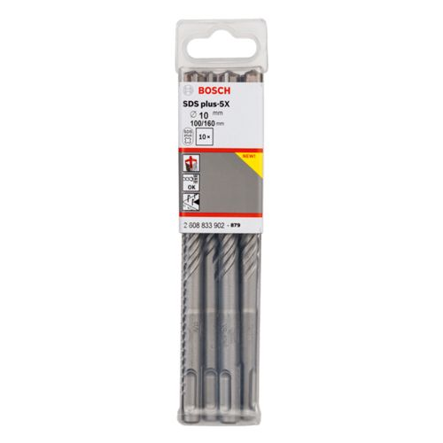 Bosch 2608833902 SDS+ 5X Hammer Drill Bit 10 x 100 x 160mm 10 Piece Set