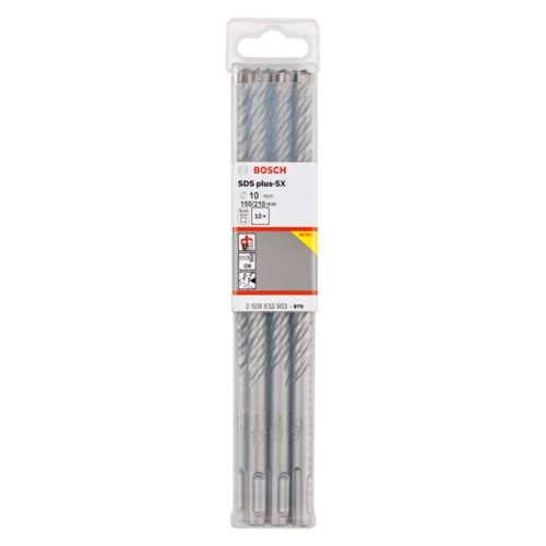 Bosch 2608833903 SDS+ 5X Hammer Drill Bit 10 x 150 x 210mm 10 Piece Set