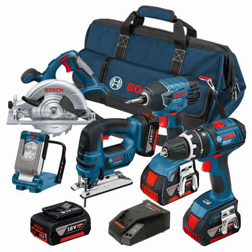 Bosch BAG5DSB Bosch 18v Li-ion Dynamic Series 5 Piece Kit