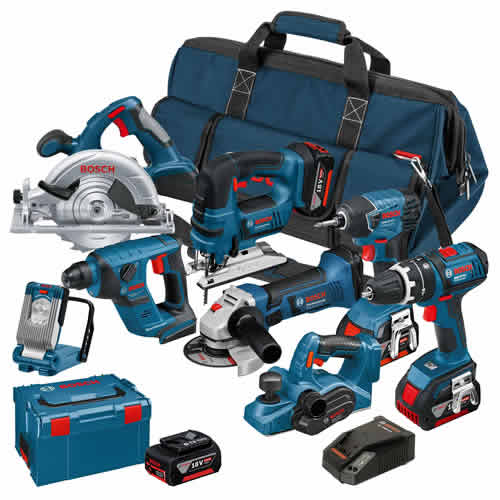 Bosch BAG8DS Bosch 18v Li-ion Dynamic Series 8 Piece Kit