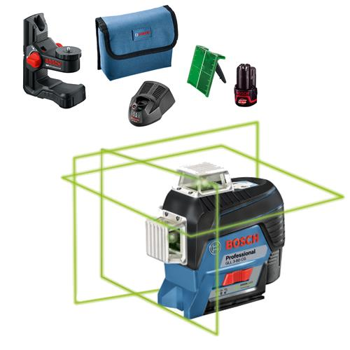 Bosch GLL 3-80CG Self-Levelling 360° Connected Green Beam Laser