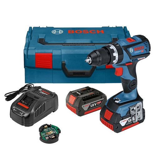 Bosch GSB 18V-60 C 18v Brushless Combi Drill with 2 x 5Ah Batteries, Charger and Case
