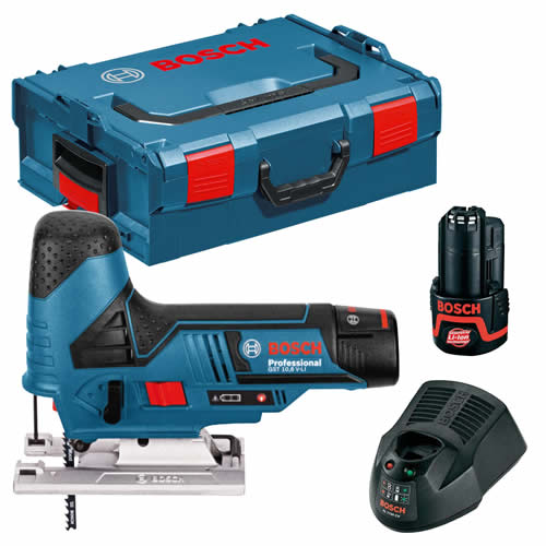 Bosch GST 12V-70 12v Jigsaw with 2 x 2Ah Batteries, Charger and Case