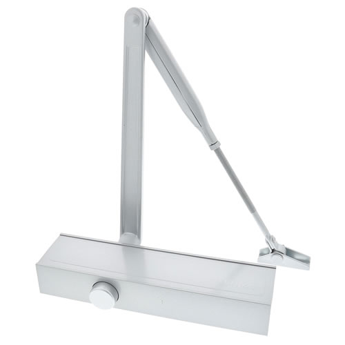 Briton 1120B.SES Adjustable Overhead Closer with Backcheck Size 2-4 - Silver