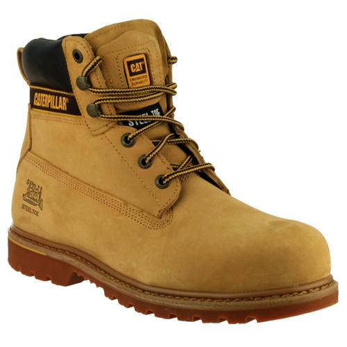 CAT HOLTONHN Caterpillar Holton Safety Boots (Honey)