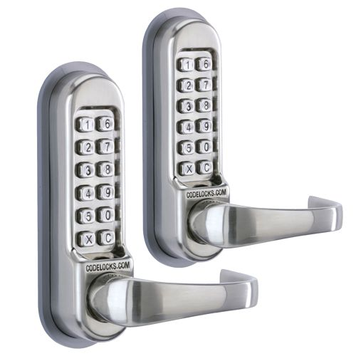 Codelock CL515 SS 500 Series Tubular Mortice Latch with Code Free Entry Option - Pack of 2