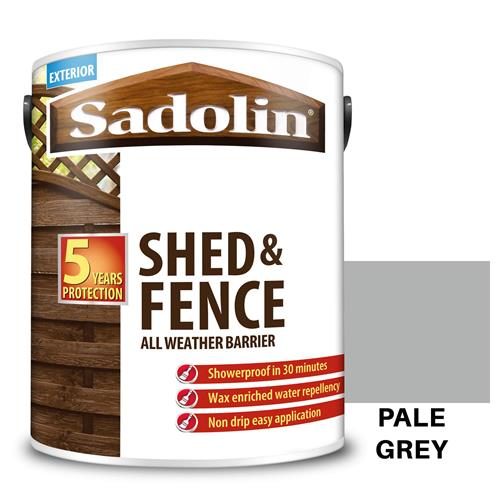 Sadolin Shed & Fence Wood Stain - Pale Grey 5 Litres