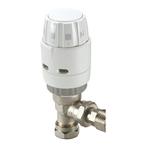 Danfoss 013G606000 Danfoss RAS-C2 Angle Combi TRV + 10mm Push Fit