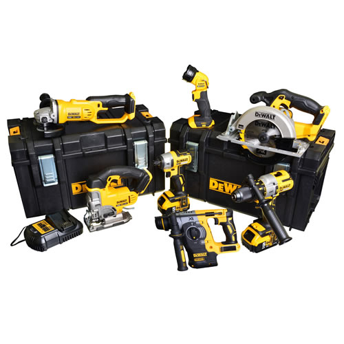Dewalt BXR75AH Dewalt 18v 7 Piece Brushless Kit - 5Ah