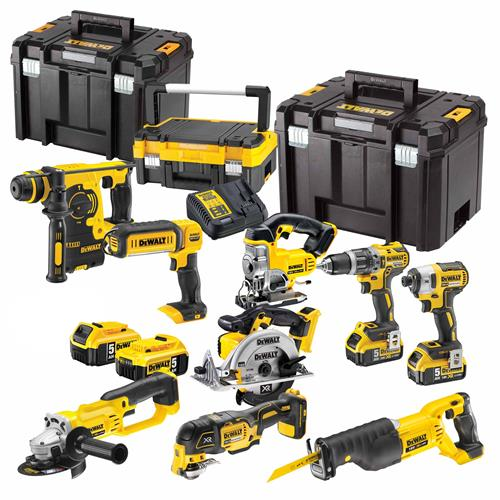 Dewalt BXR9P Dewalt 18v Lithium-Ion 9 Piece Package