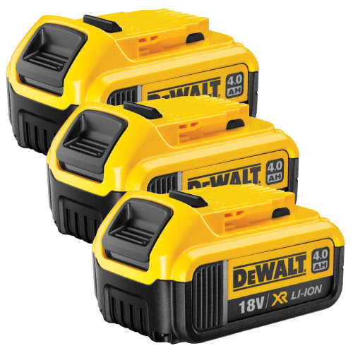 Dewalt DCB182PK3 Dewalt 18v 4.0Ah XR Li-ion Slide-on Battery Pack of 3