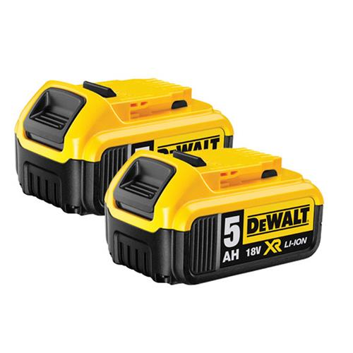 Dewalt DCB184-PK2 18v 5.0Ah XR Li-ion Battery Twin Pack