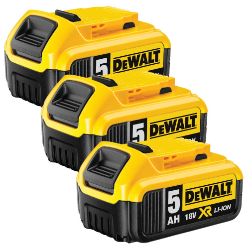 Dewalt DCB184PK3 Dewalt 18v 5.0Ah XR Li-ion Battery Pack of 3