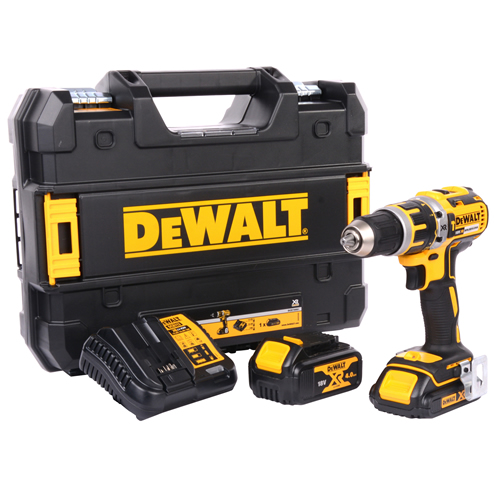 Dewalt DCD795M1S1 18v XR Brushless Combi Drill with 1 x 1.5Ah + 1 x 4Ah Batteries, Charger and Case