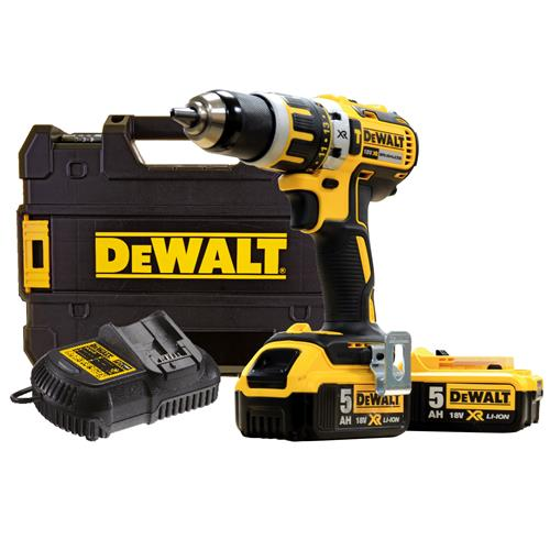 Dewalt DCD795P2 Dewalt 18v 5.0Ah XR Li-ion 2 Speed Brushless Hammer Drill Driver