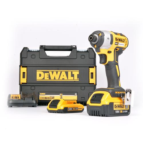 Dewalt DCF887M1D1 18v XR Brushless Impact Driver with 1 x 2Ah and 1 x 4Ah Battery, Charger and Case