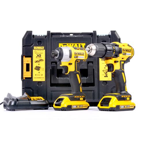 Dewalt DCK2059D2T Dewalt 18V XR Brushless Impact & Drill Driver Twinpack (Upgrade of the DCZ298S2T-GB)