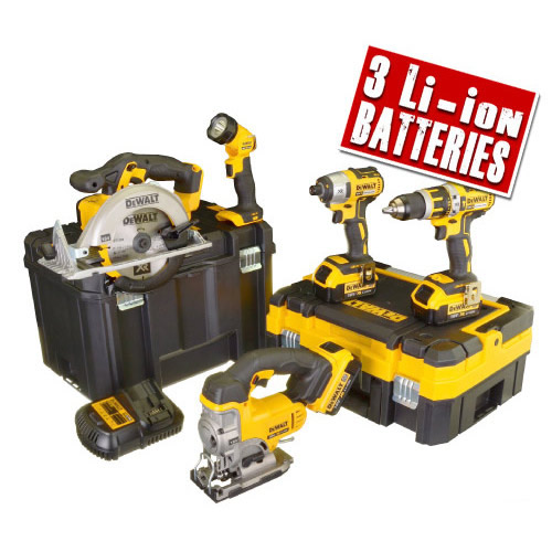 Dewalt DCK550M3T Dewalt 18v Lithium-Ion 5 Piece Package
