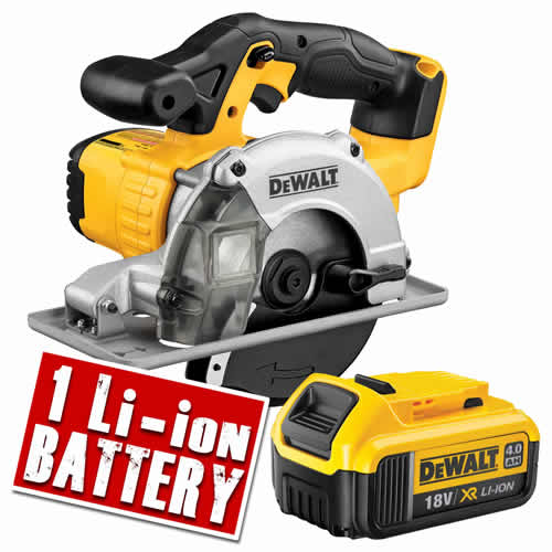 Dewalt DCS373N4 Dewalt 18v XR Li-ion Metal Cutting Saw Body + 1 x 4.0ah Battery
