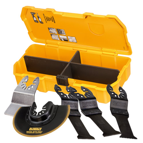 Dewalt DT20715-QZ Dewalt 5 Piece Multi-tool Accessory Pack