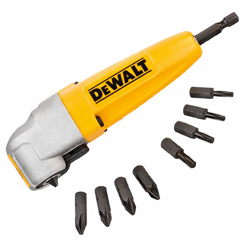 Dewalt DT71517QZ Dewalt Impact Ready Right Angle Attachment with 9 Torsion Bits