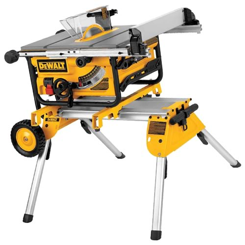 Dewalt Table Saw with Rolling Legstand