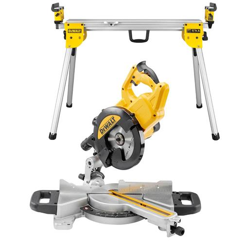Dewalt 216mm Mitre Saw with XPS with Legstand