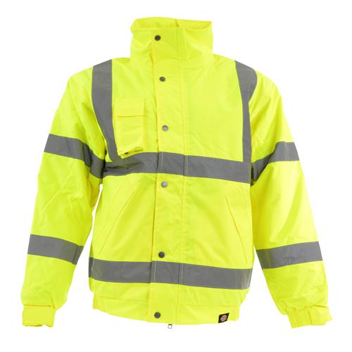 Hi-Vis Bomber Jacket - Yellow