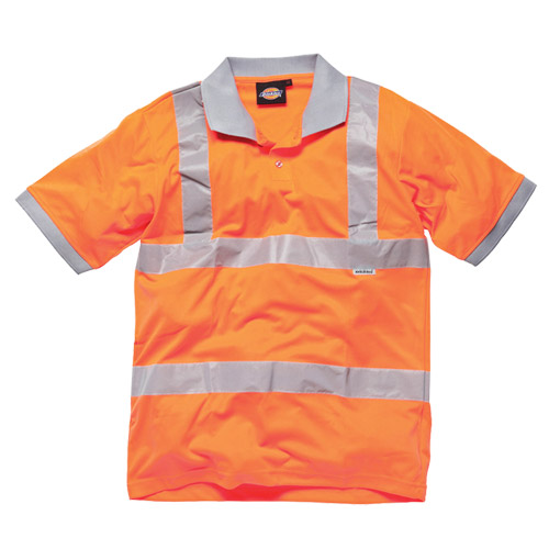 Dickies Hi-Vis Polo Shirt (Orange) Medium