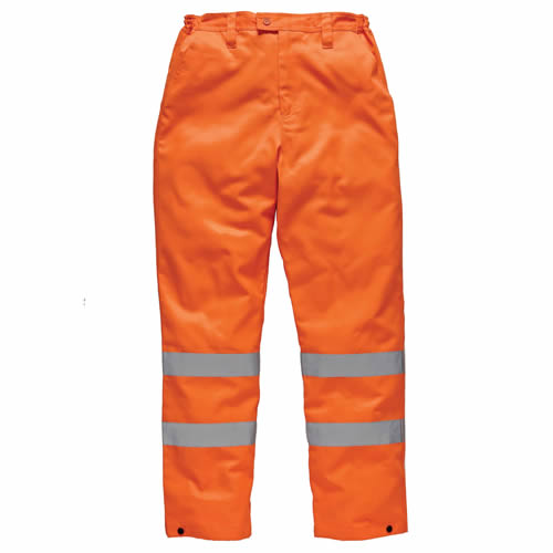 Dickies Hi-Vis Polycotton Trousers (Orange) Medium