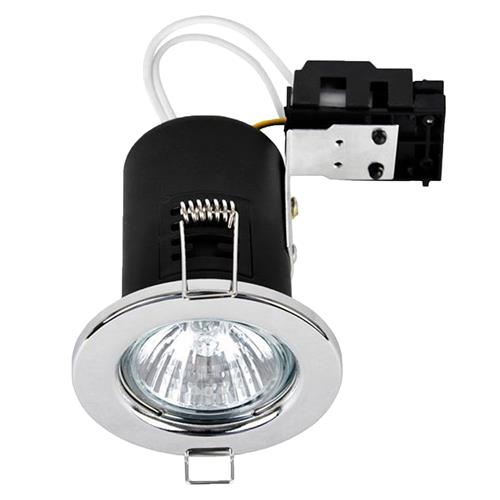 Danic Fire Rated Pressed Steel Fixed Downlights for GU10s - Chrome