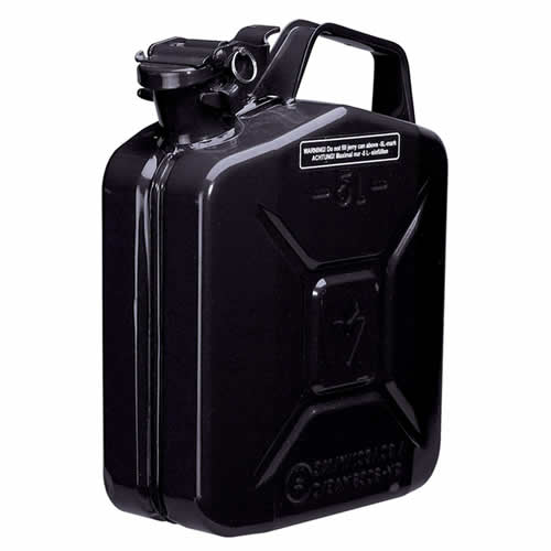 Draper 54447 Draper 5 Litre Steel Fuel Can (Black)