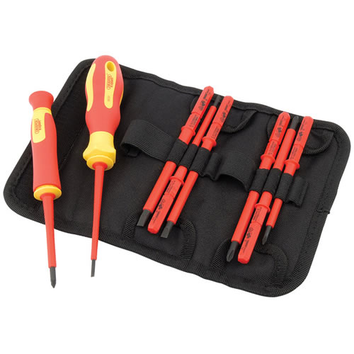 Draper 05721 Ergo Plus 10 Piece Interchangeable VDE Screwdriver Set