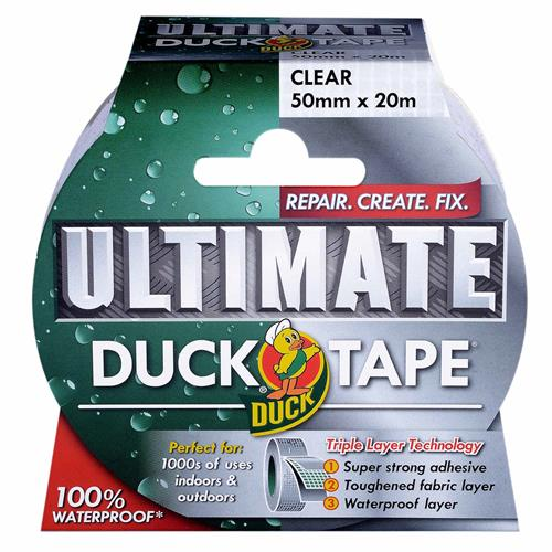 Duck Tape 222150 Ultimate Clear 50mm x 25m