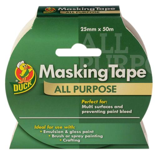 Duck Tape 232317 All Purpose Masking Tape 25mm x 50m