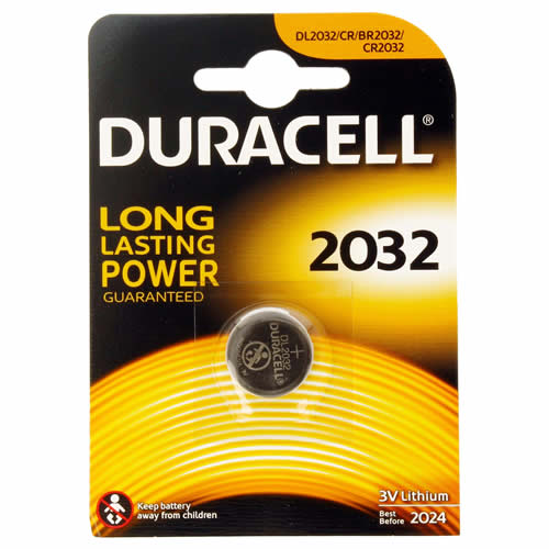 Duracell DL2032 CR2032 Duracell DL2032/CR2032 Electronics Battery Pack of 1
