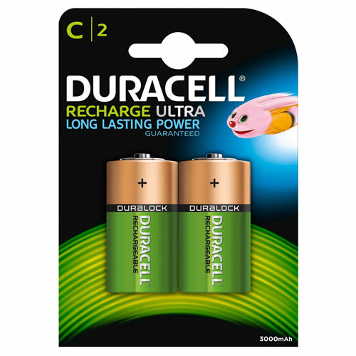 Duracell HR14B2 Duracell Recharge Ultra C Batteries Pack of 2
