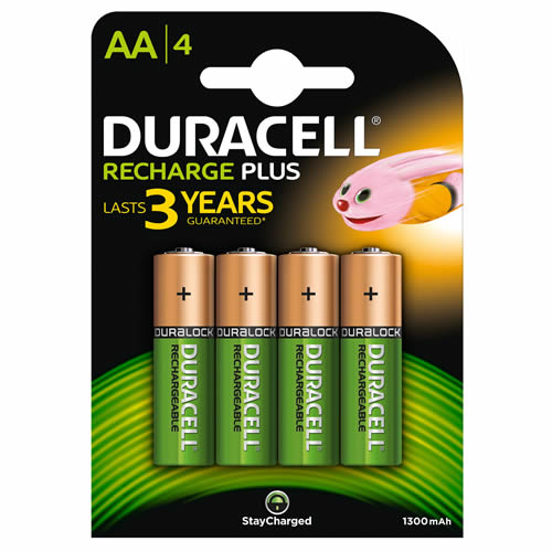 Duracell HR6B4-1300SC Duracell Recharge Plus AA Batteries Pack of 4