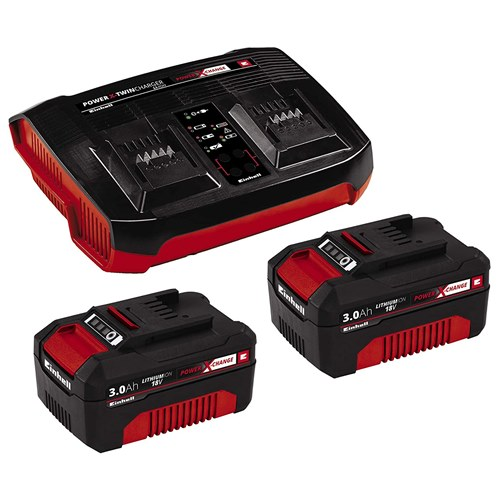 Einhell 2 x 3.0AH Battery & Twin Charger Kit