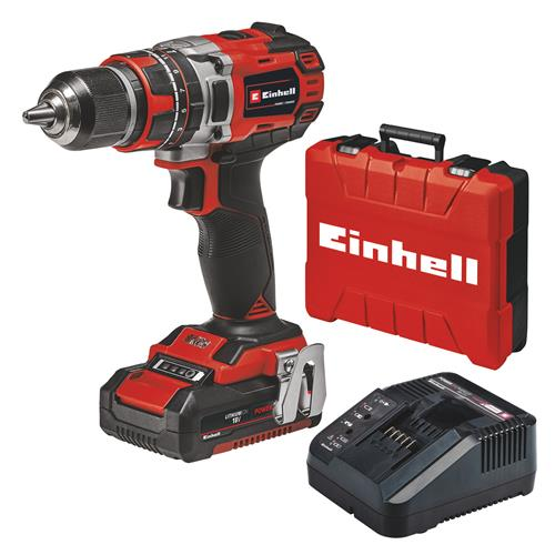 Einhell TE-CD 18/50 Li-I BL 18V Brushless Combi Drill with 1x 4Ah Battery, Charger & Case