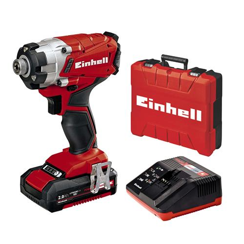 Einhell TE-CI 18/1 Li 18V Impact Driver with 1x 2.0Ah Battery, Charger and Case
