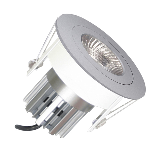 premium selection f8337 0c68e EMCO,EMC017SGUSS,Die Cast Round Fixed Downlight for 35mm MR11 LEDs - Satin  Silver