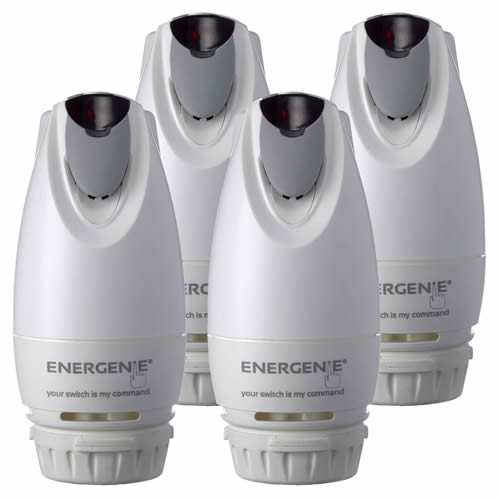 Energenie MIHO013-4 MiHome Radiator Valves - Pack of 4