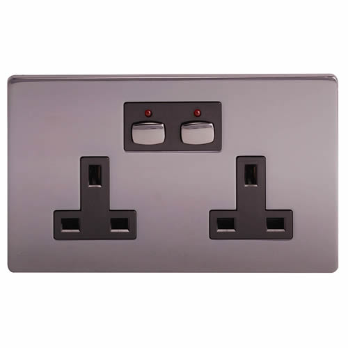 Energenie MIHO021 MiHome Style - Double Socket - Nickel
